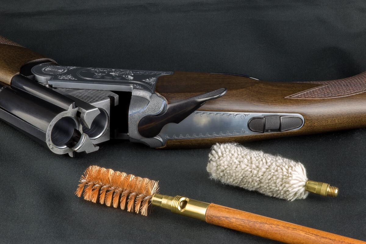 equipment to clean a gun