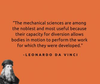 quote from da vinci about mechanical sciences