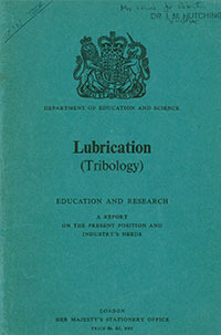 book on lubrication and tribology